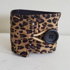 Leopard Coffee Cozy